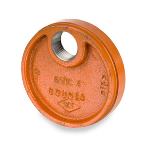"Smith Cooper 8 in. Grooved Drain Cap w/ 1"" NPT Drain"