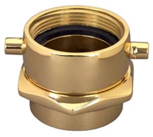 Dixon Powhatan 3 in. NH(NST) x 3 in. NPT Brass Pin Lug  (Open Snoot) Female Swivel Adapters
