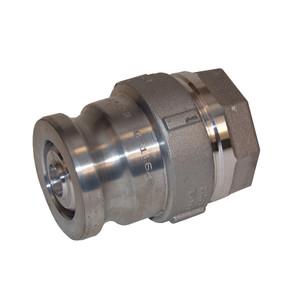 Dixon Aluminum Dry Disconnect 2 1/2 in. Adapter x 2 in. Female NPT - Viton Seal