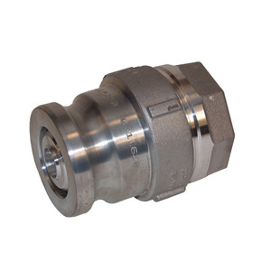 Dixon Aluminum Dry Disconnect Cam & Groove Adapter x 1 1/2 in. Female NPT - PTFE Encapsulated Silicone Seal - 1 1/2 in. - 2 in. - PTFE Encapsulated Silicone