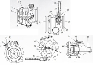 """EBW API Bottom Loading Adapter Repair Parts - Cap screw, socket head, 10-24 x 5/8"""" - 30"""