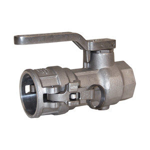 Dixon 2 1/2 in. Aluminum Dry Break Cam & Groove Dry Disconnect Coupler x 2 in. Female NPT w/ FKM Seals