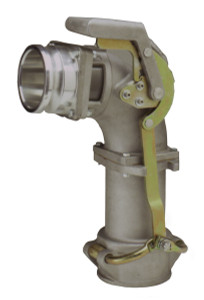 Civacon SureLok Delivery Elbow w/ 4 in. Male Adapter - Tall