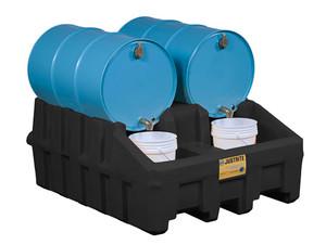 Justrite 28667 EcoPolyBlend Drum Management System Base Module - Black