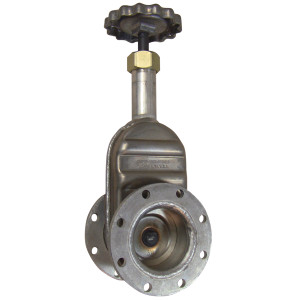 Betts 4 in. Gate Valve - TTMA Flange x TTMA Flange - Aluminum Body, Stainless Stem