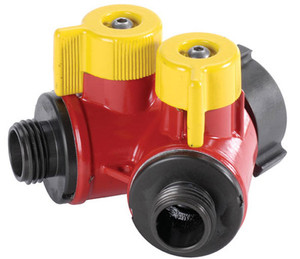 "POK 2 Way BiPok Wildland Valves 1.5"" F NST Inlet X (2) 1.0"" M NST Outlet - 1.5"" - 1.0"" - Long"