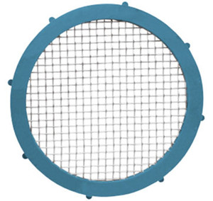 Rubber Fab 1 1/2 in. Platinum Silicon Metal Detectable Screen Camlock Gaskets - 20 Mesh
