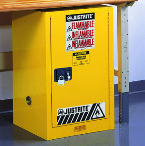 Justrite Sure-Grip EX Compac Safety Cabinet - 1 Door Self-Close - 35 in. x 23.25 in. x 18 in. - 12 - 1