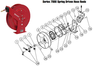 Drive Spring Assembly for Reelcraft Series 7000 Reels - Medium High - 5 - Drive Spring Assembly - All - 1