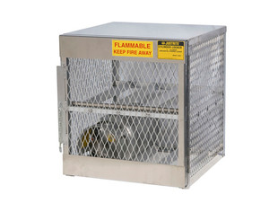 Aluminum LPG Cylinder Lockers Horizontal Storage - Four 20 or 33 lb - 33.5 in. x 30 in. x 32 in. - 1