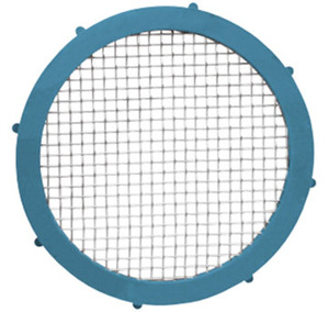 Rubber Fab 2 in. Platinum Silicon Metal Detectable Screen Camlock Gaskets - 80 Mesh