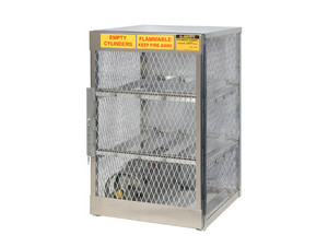 Aluminum LPG Cylinder Lockers Horizontal Storage - Six 20 or 33 lb - 49.5 in. x 30 in. x 32 in. - 2