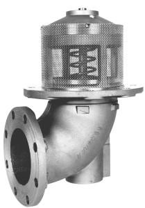 Emco Wheaton F7000 & F7001 4 in. Flanged 90° Elbow Mechanical Emergency Valve w/ Buna-N Seal
