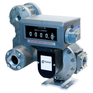Tuthill 3 in. NPT TS Oval Gear Meter w/ Mechanical Register (Liters), Strainer, and Air Eliminator