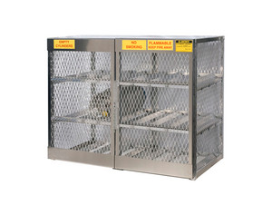 Aluminum LPG Cylinder Lockers Horizontal Storage - Twelve 20 or 33 lb - 49.5 in. x 60 in. x 32 in. - 4