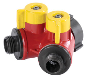 "POK 2 Way BiPok Wildland Valves 1.0"" F NPSH Inlet (2) 1.0"" M NPSH Outlets - 1.0"" - 1.0"" - Short"