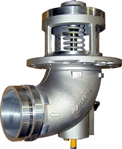 Emco Wheaton F7000 & F7001 4 in. Grooved 90° Elbow Mechanical Emergency Valve w/ Buna-N Seal