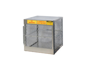 Aluminum LPG Cylinder Lockers Vertical Storage - Four 20 or 33 lb - 33.5 in. x 30 in. x 32 in.