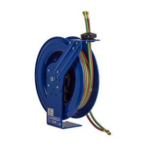 Coxreels P-W & SHW Series Spring Driven Welding Hose Reel - Oxygen-Acetylene Reel - 1/4 in. x 75 ft. Hose