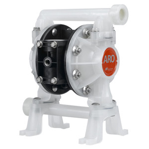 ARO 3/4 in. Polypropylene Non-Metallic Air Operated Diaphragm Pump w/ PTFE Diaphragm