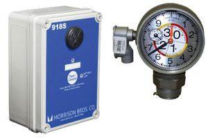 Morrison 918 Series 2 in. Female NPT Clock Gauge & Alarm w/ Drop Tube Float - Meters & Centimeters