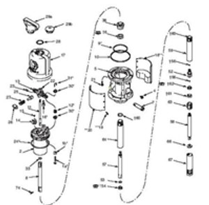 Air Motor Repair Kit for Graco Fireball 300 50:1 Non OEM Repair Kit