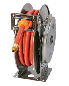 Hannay N800 Series Spring Rewind Fuel Hose Reel With BC Gas Hose - 3/4 in. x 50 ft.