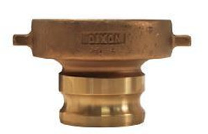 Dixon 4 in. Brass Cam & Groove Adapter x Tank Car Connection