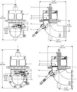 880-430 & 880-431 Emergency Valve Parts - O-ring FLC #2-114 - 3