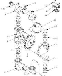 Air Valve Kit for Graco 1050 Diaphragm Pumps - 2