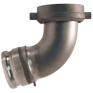 Dixon Tank Car Elbows Part A – Stainless Steel 4 in. Male Adapter x 5 in. Swivel Nut