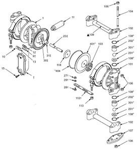 Graco Husky 307 Diaphragm Pump Fluid Kit w/ Acetal Seals