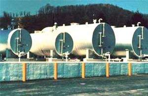 Double Wall Horizontal Tanks - 1000 Gal - Length=10 ft. 9 in. - 7 Ga.