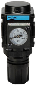 Dixon Wilkerson 1/4 in. Miniature Regulator With Gauge - 44 SCFM