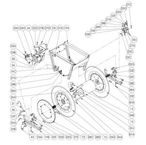 "EPIV Electric Rewind Reel Parts - 1"" Bronze Bearing Insert - 02E"