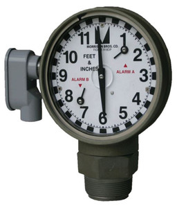 Morrison 2 in. Female NPT 918DP Dual Point Clock Gauge w/ Drop Tube Float