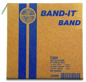 BAND-IT 1/2 in. 201 Stainless Steel Band Roll - 100 ft. Roll