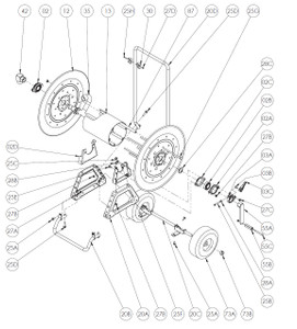 AT Series Moblie Garden Hose Reel Parts - Cam Lock Brake Complete - 03A, 03B, 03C