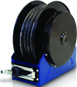 Graco 1 in. x 50 ft. Blue XD 40 Air & Water Heavy Duty Spring Driven Hose Reel - Reel & Hose