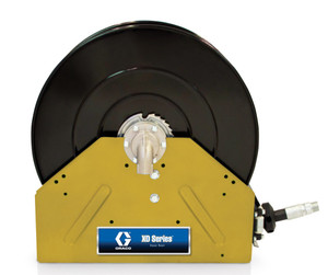 Graco 1 in. x 50 ft. Yellow XD 40 Air & Water Heavy Duty Spring Driven Hose Reel - Reel & Hose