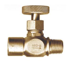 "Gas-Flo Brass Female Pipe x Male Pipe Precision Needle Valves - Female to Male - 1/4"""