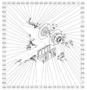 EP/ EPJ/ 7500 Series Power or Crank Rewind Reel Parts - 12V 1/2 HP Motor - 58