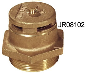 Justrite Vertical Brass & Poly Drum Vents - Brass Vent for Petroleum Fluids - Automatic - 3/4 in.