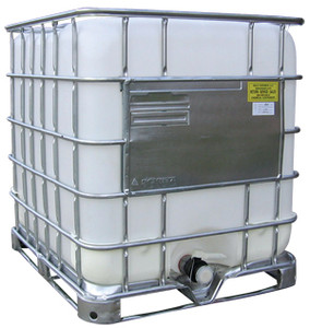 Schutz IBC Tank - 275 Gallon Capacity - Reconditioned IBC & New Bottle - 275 Gallons