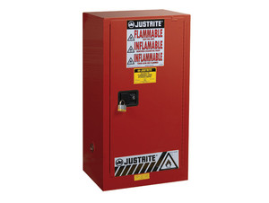 Justrite Sure-Grip Single Door Ex Safety Cabinets for Paints & Inks - 1 Door Self-Close - 44 in. x 23.25 in. x 18 in. - 20 - 2