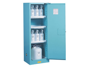 Justrite Sure-Grip Ex Slimline Cabinets for Corrosives - 1 Door Manual - 65 in. x 23.25 in. x 18 in. - 22 - 3