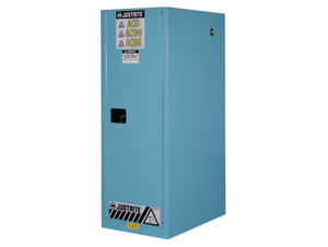 Justrite Sure-Grip Ex Slimline Cabinets for Corrosives - 1 Door Manual - 65 in. x 23.25 in. x 34 in. - 54 - 3