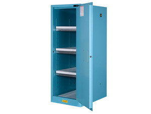 Justrite Sure-Grip Ex Slimline Cabinets for Corrosives - 1 Door Self-Close - 65 in. x 23.25 in. x 34 in. - 54 - 3