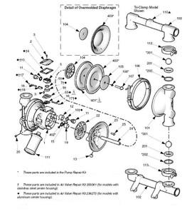 Graco Husky Air Motor Kit w/ Aluminum Housing for Graco