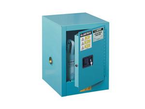 Justrite Sure-Grip Ex Countertop Cabinets for Corrosives - 1 Door Manual - 22 in. x 17 in. x 17 in. - 4 - 1